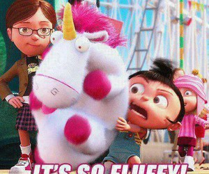 fluffy, unicorn, and despicable me image