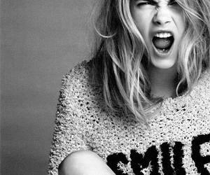 model, cara delevingne, and smile image