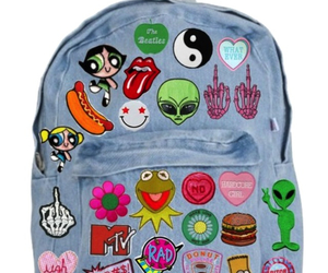 backpack, grunge, and alien image