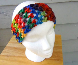 crochet, rainbow, and ear warmer image