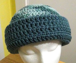 blue, crochet, and hat image