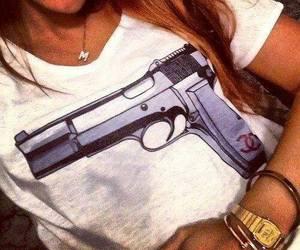 girl, gun, and chanel image