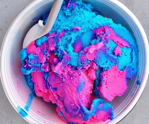 ice cream, blue, and pink image