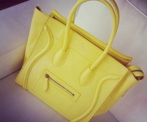 bag, yellow, and celine image