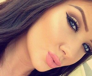 beauty, blue eyes, and makeup image