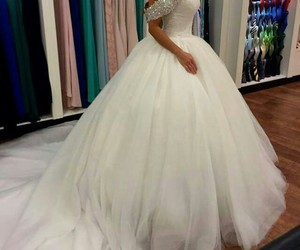 dress, mariage, and mariee image