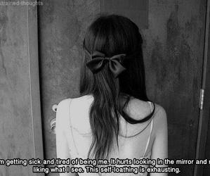 black and white, sad, and girl image