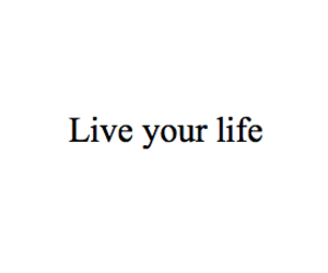 live, text, and life image
