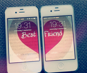 best friends and iphone image