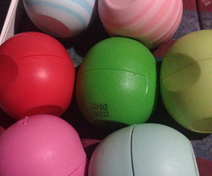 colors, eos, and lip balm image