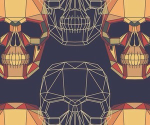 skull, wallpaper, and cool image