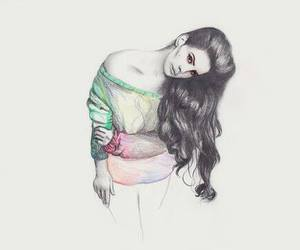 drawing, lana del rey, and beautiful image