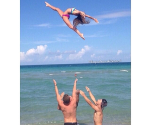 beach, cheer, and clothes image