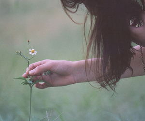 girl, nature, and flower image