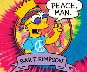 bart, hippie, and peace image