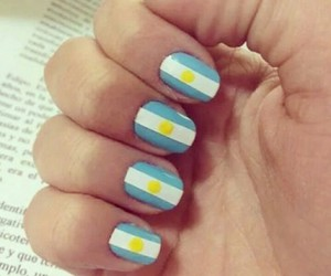 argentina and nails image