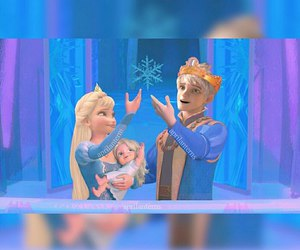 disney, jack frost, and elsa image