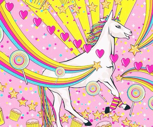 colors and unicorn image