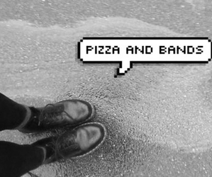 pizza, band, and grunge image
