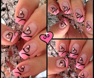 baby pink, beautiful, and pink nail art image