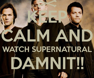 supernatural, keep calm, and castiel image