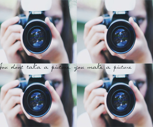 camera, girl, and text image