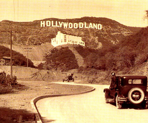 hollywood, vintage, and hollywoodland image