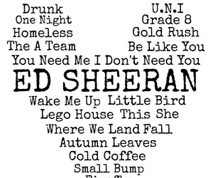 ed sheeran, song, and ed image