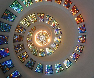 spiral, stained glass, and art image