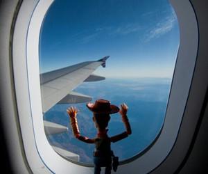 disney, plane, and sky image