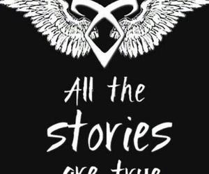 angel, runas, and cazadores de sombras image