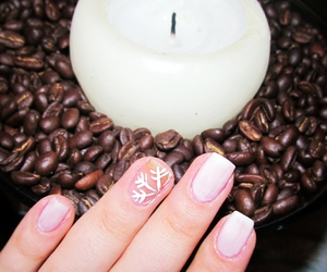 candle, coffee, and nails image