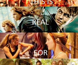the hunger games, divergent, and forever image