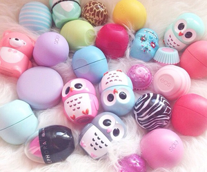 eos, lipbalm, and lipgloss image