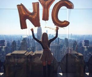 nyc, girl, and city image