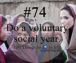 100 things to do in life, 74, and voluntary image