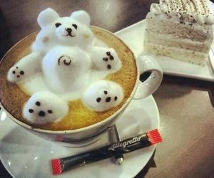 coffee, bear, and cake image