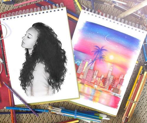 art, drawing, and city image