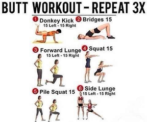 workout, fitness, and butt image