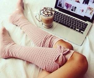 coffee, socks, and pink image