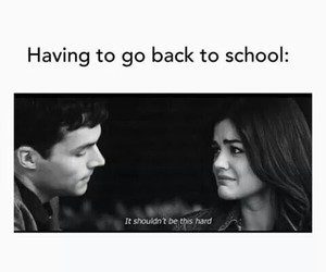 school, pretty little liars, and funny image