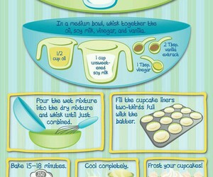 cupcakes, tutorial, and food image
