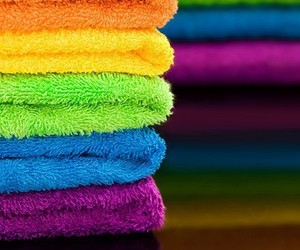 colors, rainbow, and towel image