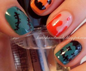 blood, nail art, and pumpkin image