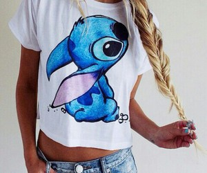 stitch, hair, and blonde image