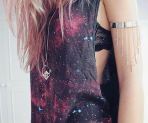 galaxy and hair image