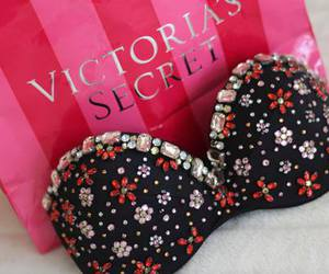 Victoria's Secret, pink, and bra image