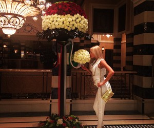 blonde, flowers, and luxury image