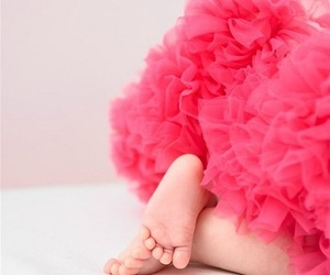 baby, pink, and feet image