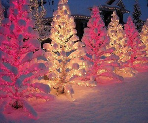 christmas, snow, and light image
